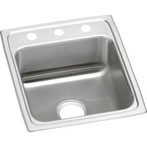 Elkay Gourmet Lustertone® 1-Bowl Topmount Kitchen Sink with Rear Center Drain ELRAD172060