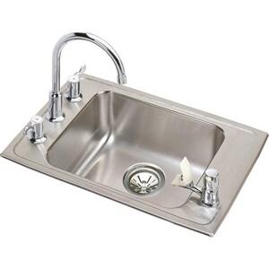 Elkay 4-Hole Single Bowl Stainless Steel Classroom Sink EDRKAD222060C