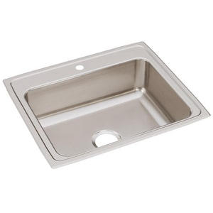 Elkay Gourmet® 1-Hole 1-Bowl Topmount Kitchen Sink ELR25211