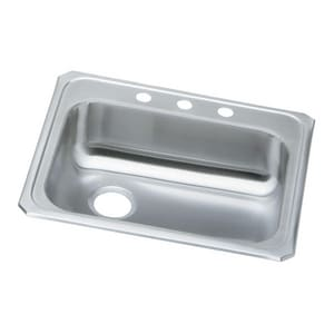 Elkay Celebrity® Single Bowl Stainless Steel Kitchen Sink with Left Hand Drain EGECR2521L