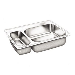Dayton 3-Hole 2-Bowl Self-Rimming and Drop-In Kitchen Sink with Center Drain in Elite Satin DDSEMR233223
