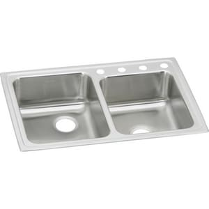 Elkay Lustertone® 2-Bowl Stainless Steel Kitchen Sink ELR250