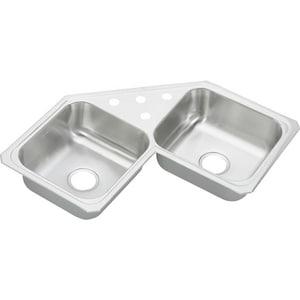 Elkay Gourmet Celebrity® 2-Bowl Topmount Kitchen Sink with Center Drain ECCR3232