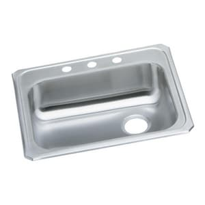 Elkay Gourmet Lustertone® 1-Bowl Topmount Kitchen Sink with Rear Right Drain EGECR2521R1