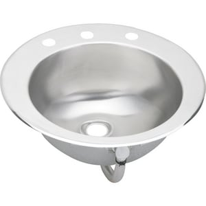 Elkay Lustertone® Topmount Lavatory Sink in Stainless Steel and Lustrous Highlighted Satin ELLVR1916
