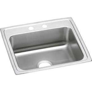 Elkay Gourmet® 1-Bowl Stainless Steel Topmount Kitchen Sink with Rear Center Drain ELRAD221955