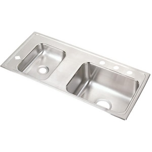Elkay 2-Bowl Stainless Steel Top Mount Sink EDRKAD371755L