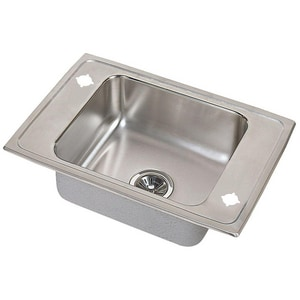 Elkay Pacemaker® 1-Basin Drop-In and Topmount Utility Sink with Drain Assembly EPSDKAD251765