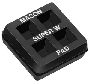 Mercer Rubber 2 x 2 x 3/4 in. Super W Vibration Pad MR2X2SW