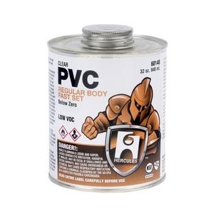 Hercules Chemical PVC Below Zero Fast-Setting Cement in Clear H60142