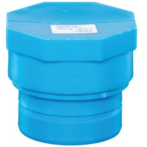 Orion Fittings Blueline® 4 in. Mechanical Joint Straight Polypropylene Cap OMJP