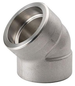 3000# 304L Stainless Steel Socket 45 Degree Elbow DS4L3S4