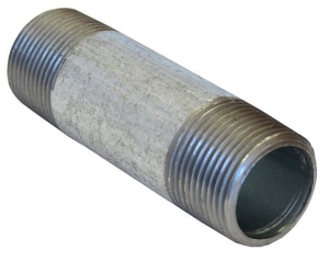 1 x 4 in. NPT Schedule 40 Galvanized Right and Left Nipple GRLNGP