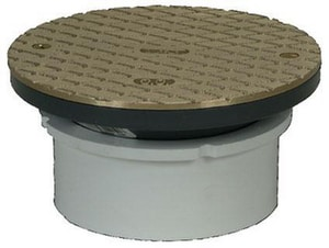 PROFLO® 4 in. Adjustable PVC Hub Fit Cleanout with 6 in. Brass Cover PF42809