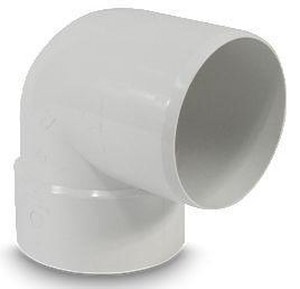 Hub and Solvent Weld x Spigot Plastic 90 Degree Elbow MUL040274
