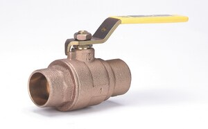 Milwaukee Valve BA-150 Cast Bronze Sweat 2-Piece Full Port Ball Valve with Lever Handle MBA150XH