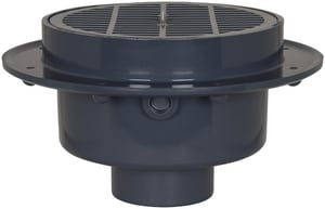 Sioux Chief Fat Max™ Schedule 40 Large Capacity Floor Drain Hub with PVC/ABS Strainer S8603P
