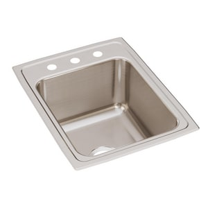 Elkay Gourmet Lustertone® 17 x 22 in.. Single Bowl Top Mount EDLR1722103