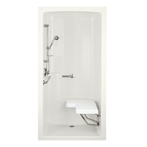 Kohler Freewill® 45 x 37 in. Shower with Right-Hand Freewill in White K12100-C-0