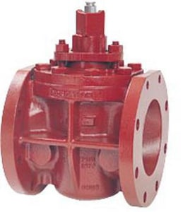 Flowserve Nordstrom 200 psi Cast Iron Flanged Lubricated Plug Valve N143