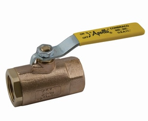 Apollo Conbraco 600 psi FNPT x Threaded 2-Piece Bronze and Stainless Steel Standard Port Isolation Ball Valve with Lever Handle A7014101