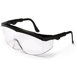 Crews Tomahawk® Safety Glasses with Black Frame & Clear Lens CTK110