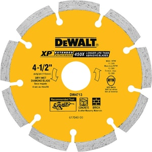 Dewalt Segment Diamond Saw Blade DDW4713