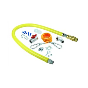 T&S Brass 3/4 Gas Hose with Quick Disconnect Kit THG4DK