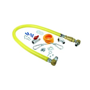 T&S Brass Gas Hose with 1 in. NPT Quick Disc THG4ESK