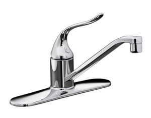 Kohler Coralais® 1.5 gpm Single Lever Handle Deckmount Kitchen Sink Faucet 3/8 in. Flexible Connection in Polished Chrome K15171-P-CP