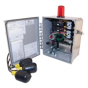 Zoeller 115/200/230 V Duplex Control Panel with 3-Float Z100093