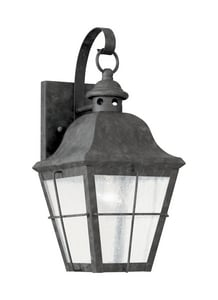 Seagull Lighting Chatham 14 in. 100 W 1-Light Medium Lantern in Oxidized Bronze S846246