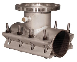 Ford Meter Box Flanged x Flanged Stainless Steel Tapping Sleeve (13.20 - 12.75 in. OD) FFTSS132