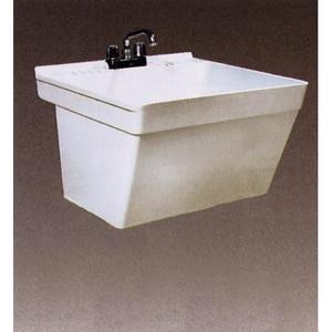 Florestone Wall Mount Single Utility Sink in White FWM1