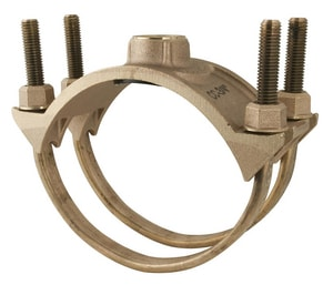 Ford Meter Box 8 x 1-1/2 in. IP Bronze Double Strap Saddle F202B962IP6