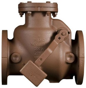 American Flow Control-Acipco Ductile Iron Flange Lever and Weight Check Valve AFC52SCLW