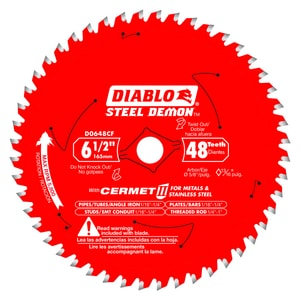 6-1/2 in. Steel and Carbide Circular Saw Blade