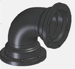 Mechanical Joint x Flanged Ductile Iron C110 Full Body 90 Degree Bend (Less Accessories) FBF9LA