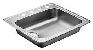 Moen 4-Hole Single Bowl Stainless Steel Kitchen Sink M22130