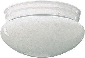 Quorum International 5 x 9-1/2 in. 60 W 2-Light Medium Flush Mount Ceiling Fixture Q30158