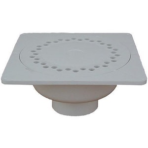 PROFLO® 1- 1/2 - 2 in. PVC 9 x 9 in. Grid Bell Trap Drain PF42863
