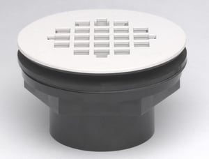 Oatey 2 in. PVC Shower Drain with Strainer O42089