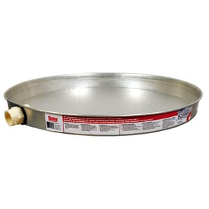 Oatey Aluminum Water Heater Pan with Chrome O34170