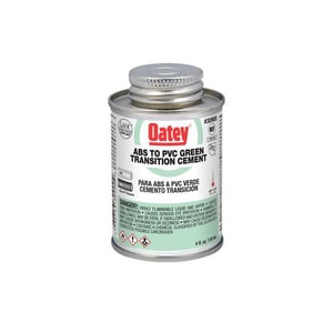 Oatey ABS/PVC Transit Cement in Green O309