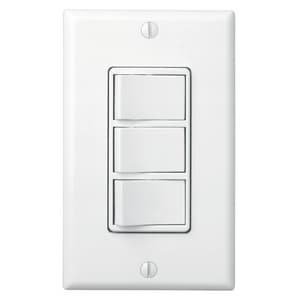 Broan Nutone 3 Switch 4-Function Wall Control B77D