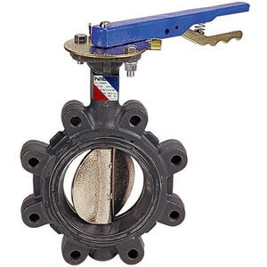 Nibco LD-3010 Series 250 psi Ductile Iron Butterfly Valve with Gear Operator and Molded-In Seat Liner NLD30105