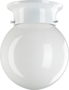Quorum International 7-1/4 x 6 in. 60 W 1-Light Medium Flush Mount Ceiling Fixture Q330866