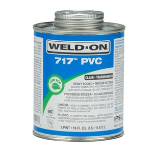 Weld-On PVC Heavy Duty Cement in Clear I1014