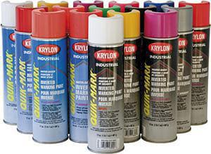 Krylon Quik-Mark™ 20 oz. Inverted Water-Based APWA Marking Spray Paint KS0