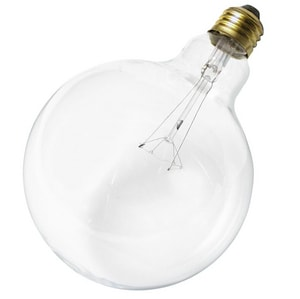 Satco 25W G40 Dimmable Incandescent Light Bulb with Medium Base in Clear SS3010